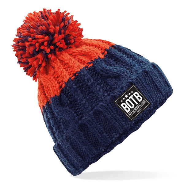 Apres Beanie - Oxford Navy / Fire Red