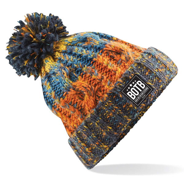 Corkscrew Beanie - Retro Blues