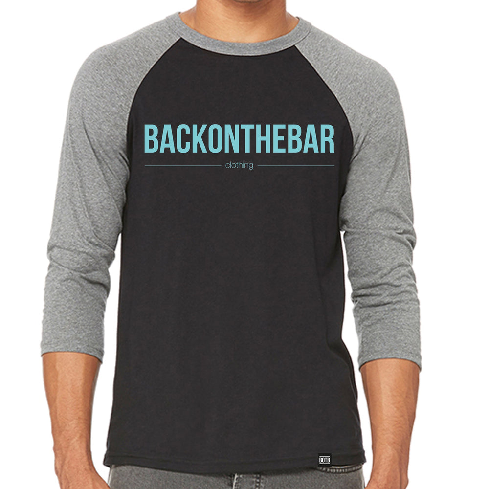 Originals Baseball Tee - Black & Deep Heather
