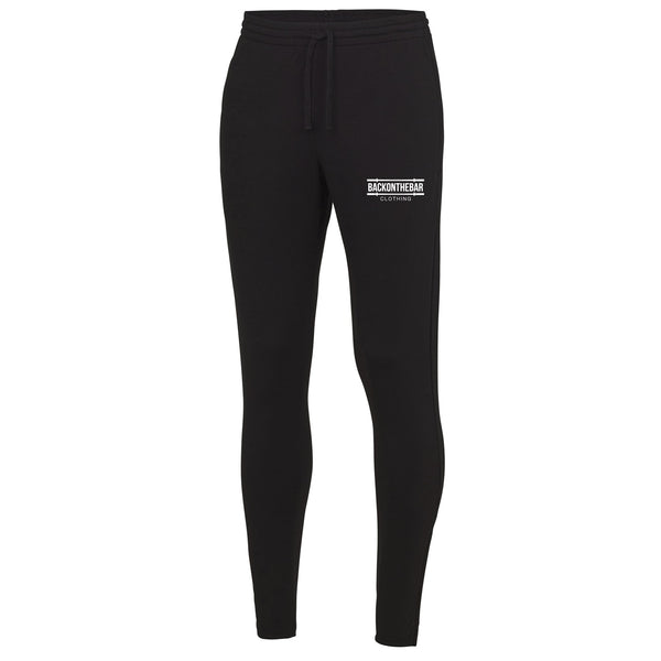 Back On The Bar Black Cool Tapered Joggers
