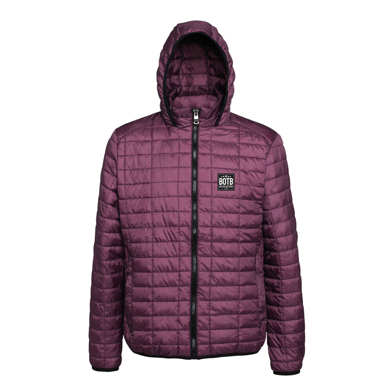 Honeycomb Hooded Jacket - Mulberry
