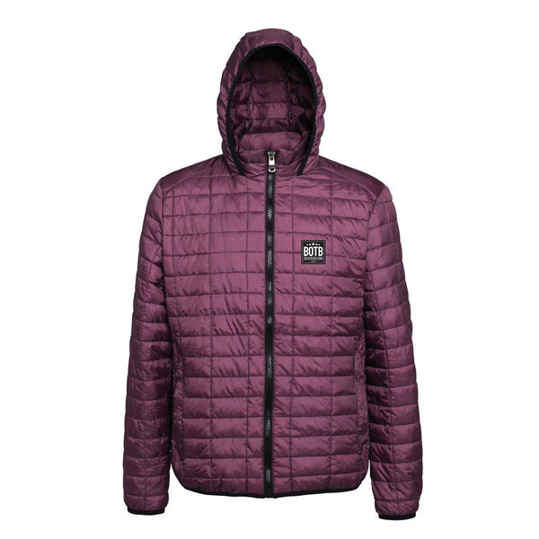 Back On The Bar Honeycomb Hooded Jacket - Mulberry