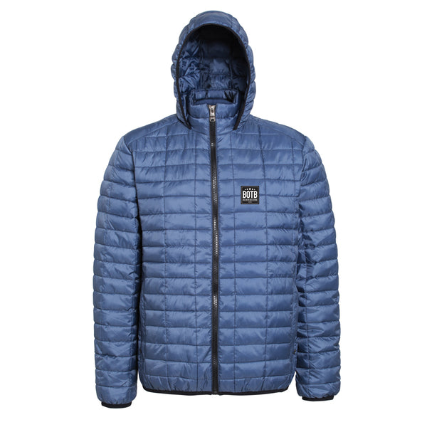 Honeycomb Hooded Jacket - Navy