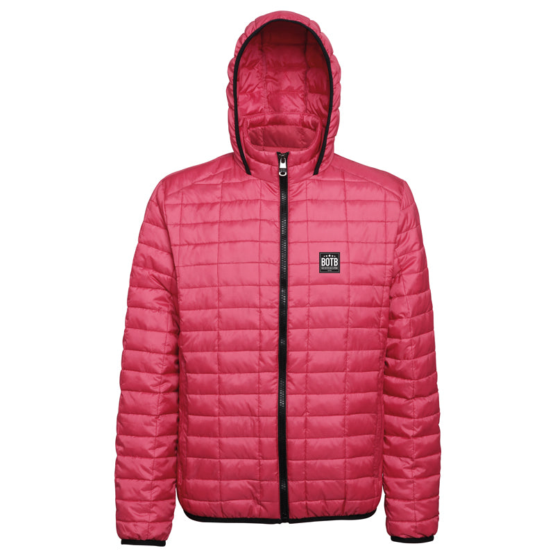 Honeycomb Hooded Jacket - Red