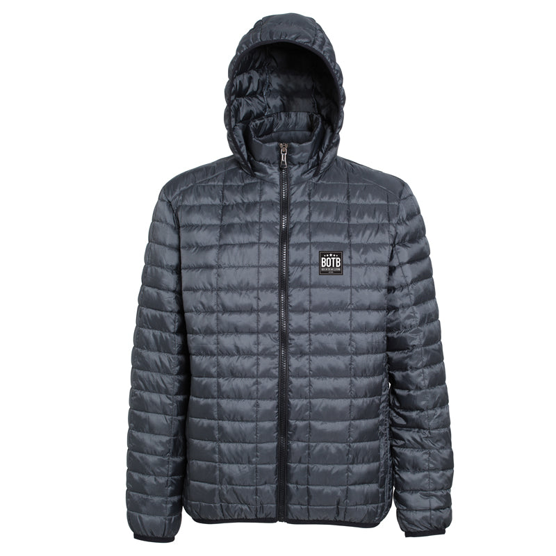 Honeycomb Hooded Jacket - Steel