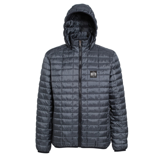 Back On The Bar Honeycomb Hooded Jacket - Steel