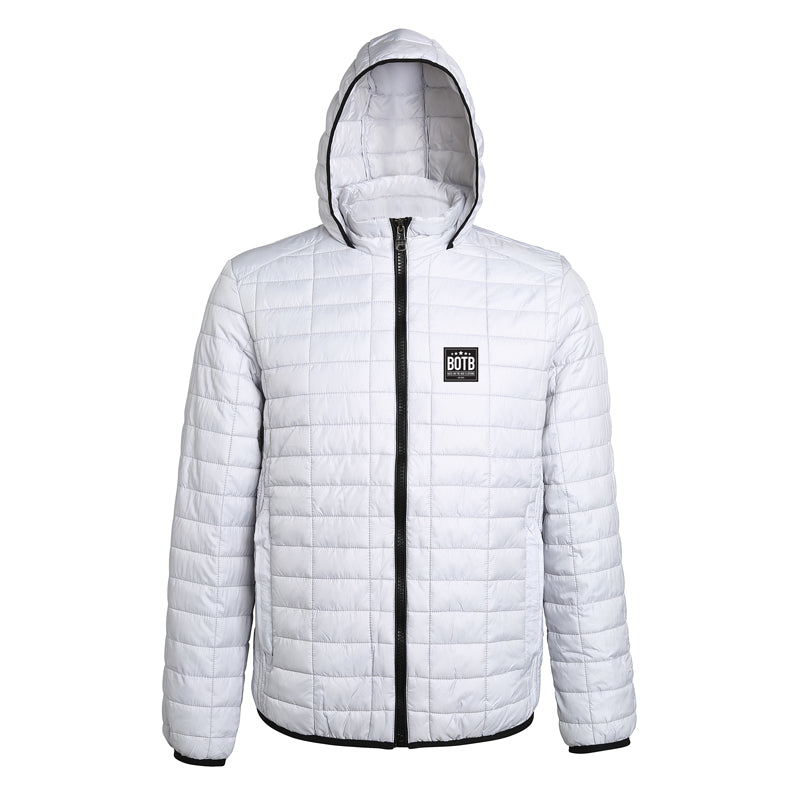 Honeycomb Hooded Jacket - White