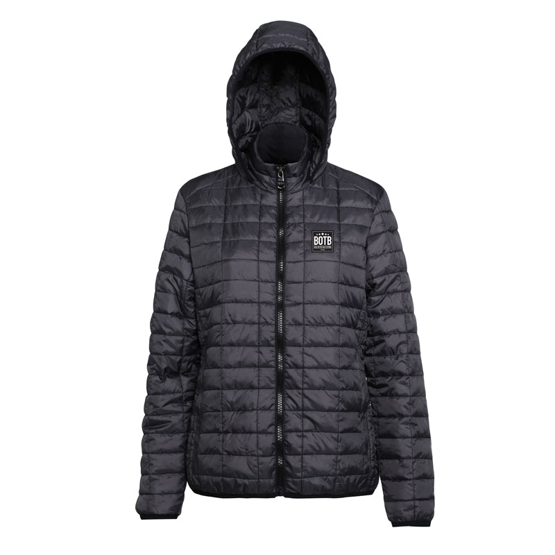 Women's Honeycomb Hooded Jacket - Black