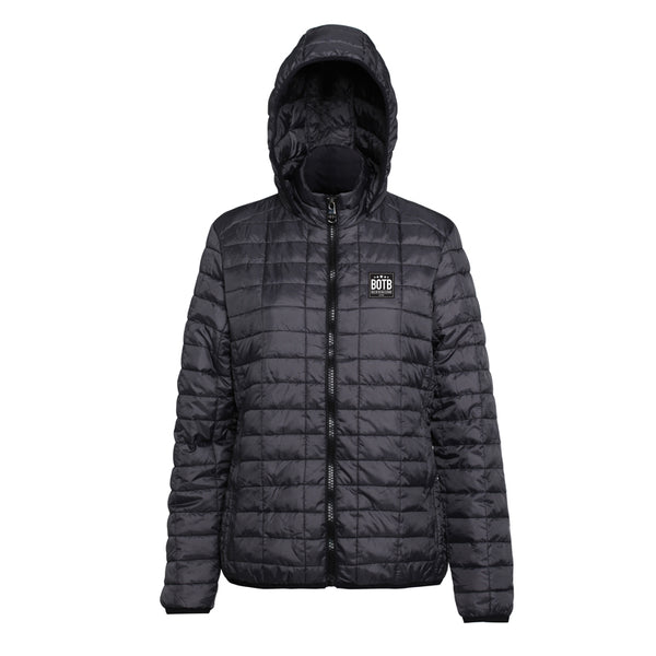 Back On The Bar Women's Honeycomb Hooded Jacket - Black