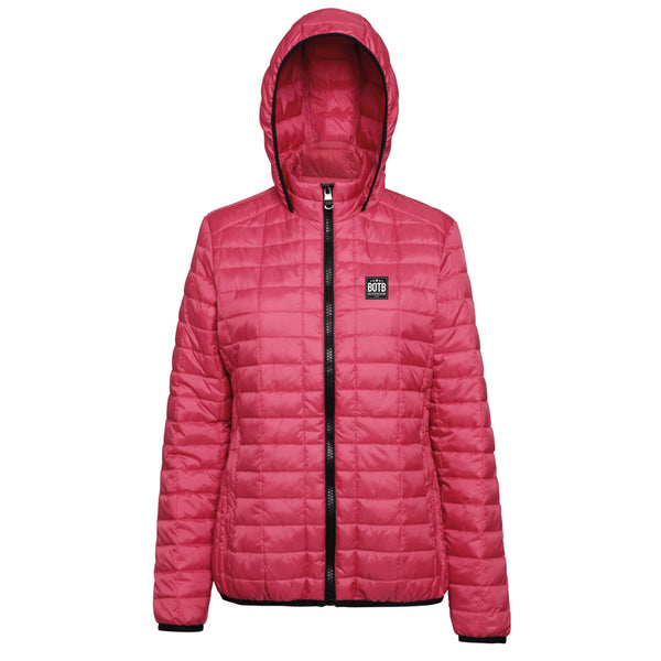 Back On The Bar Women's Honeycomb Hooded Jacket - Red