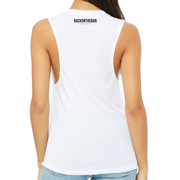 Originals Women's Flowy Scoop Muscle Tank - White