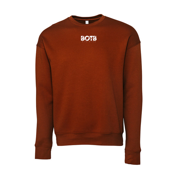 Broken Unisex Drop Shoulder Sweatshirt Brick