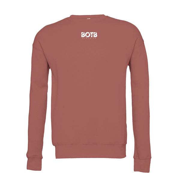 Broken Unisex Drop Shoulder Sweatshirt Mauve