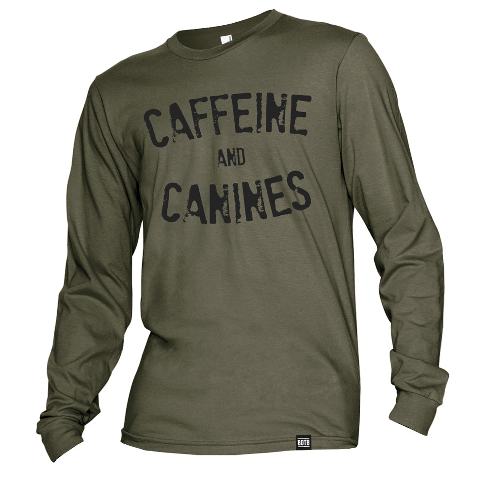 Caffeine And Canines Long Sleeve T-Shirt