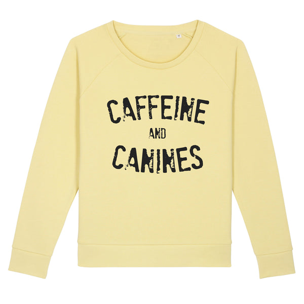 Caffeine And Canines Organic Crew - Yellow Mist