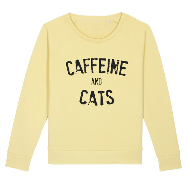 Caffeine And Cats Organic Crew