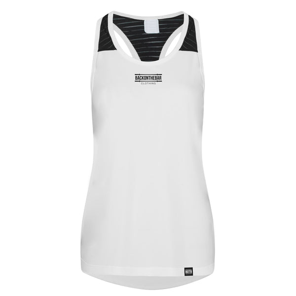 Women's Cool Smooth Training Vest - Arctic White & Black