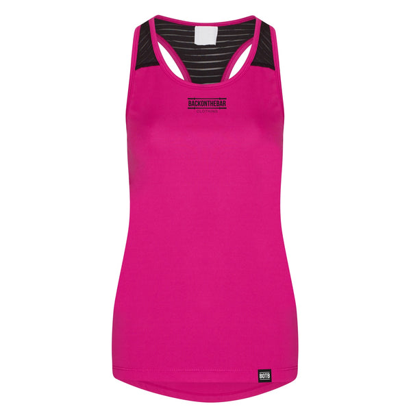 Women's Cool Smooth Training Vest - Hot Pink & Black