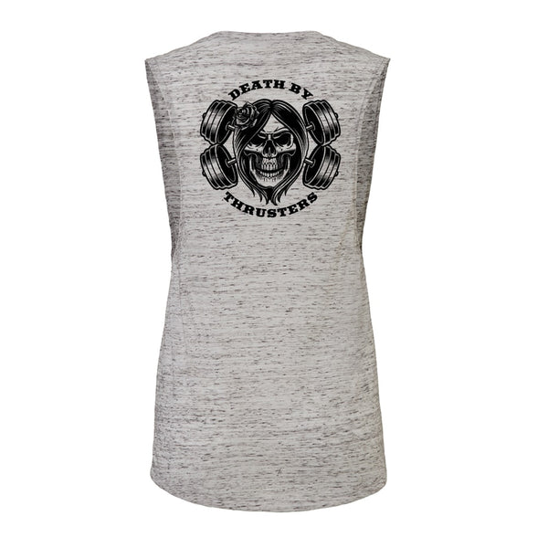 Women's Death By Thrusters Flowy Scoop Muscle Tank