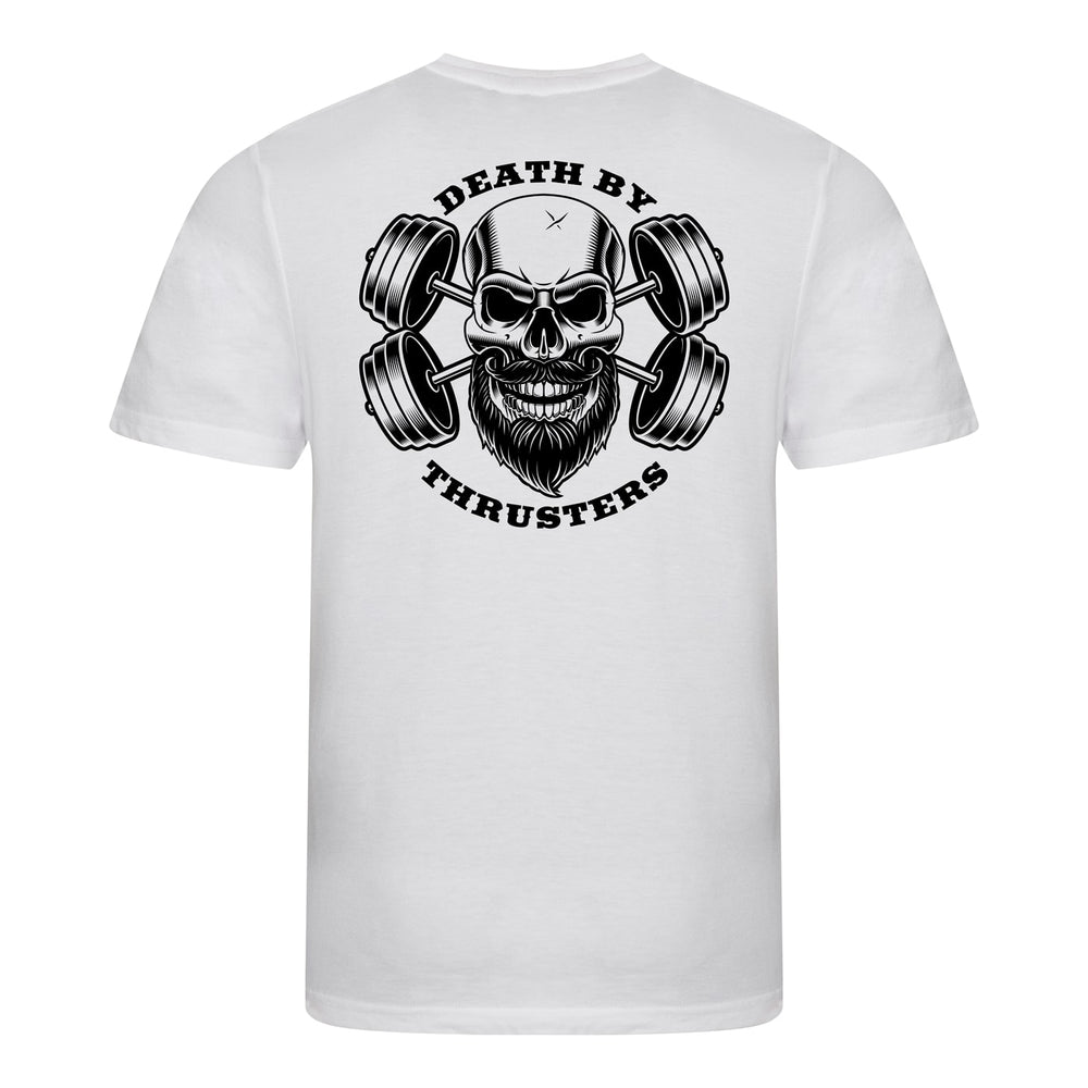 Death By Thrusters Triblend T-Shirt - Solid White