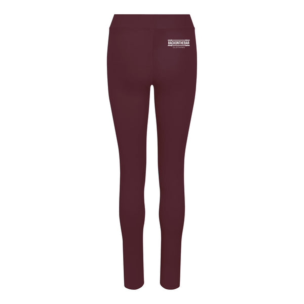 Women's Cool Leggings - Burgundy