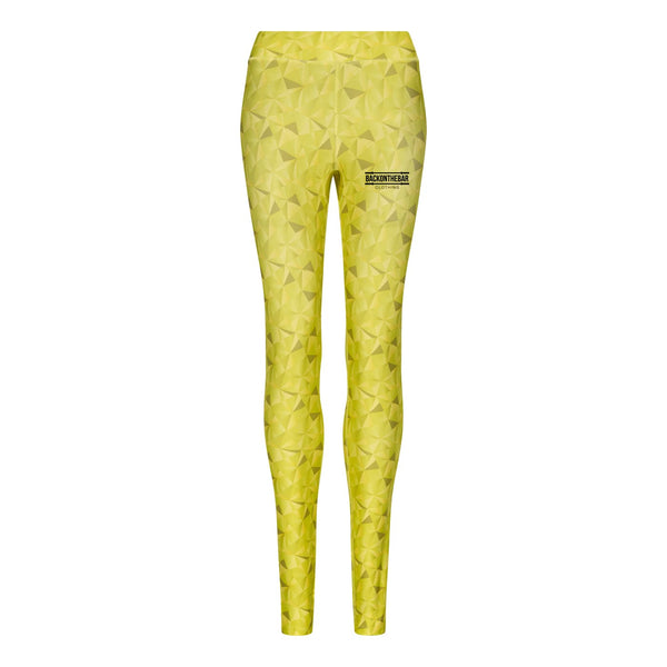 Women's Cool Leggings - Kaleidescope Lime