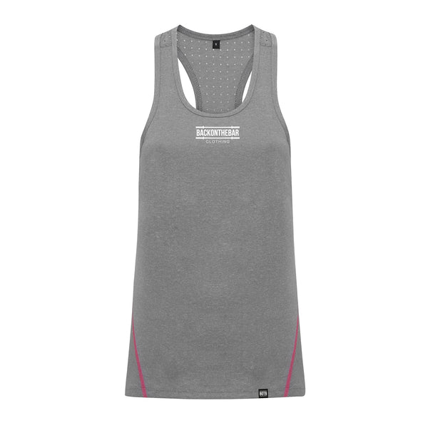 Women's Laser Cut Training Vest - Silver Melange