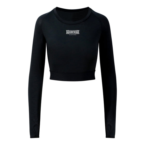 Long Sleeve Crop T - Black