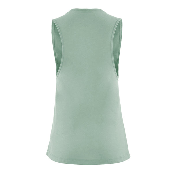 BOTB Ladies Muscle Tank Stonewash Green