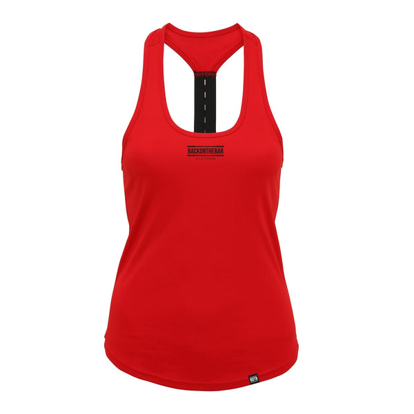 Women's Performance Strap Back Training Vest - Fire Red