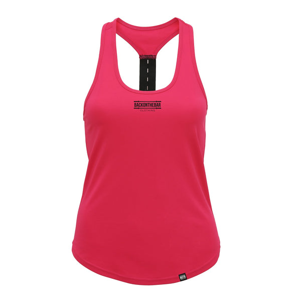 Women's Performance Strap Back Training Vest - Hot Pink