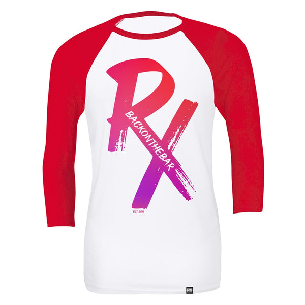 RX Baseball Tee - White & Red