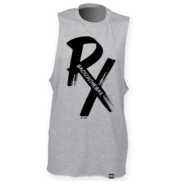 RX High Neck Slash Armhole Vest - Black & Heather Grey