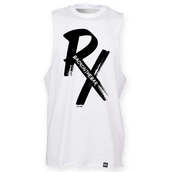 RX High Neck Slash Armhole Vest - Black & White
