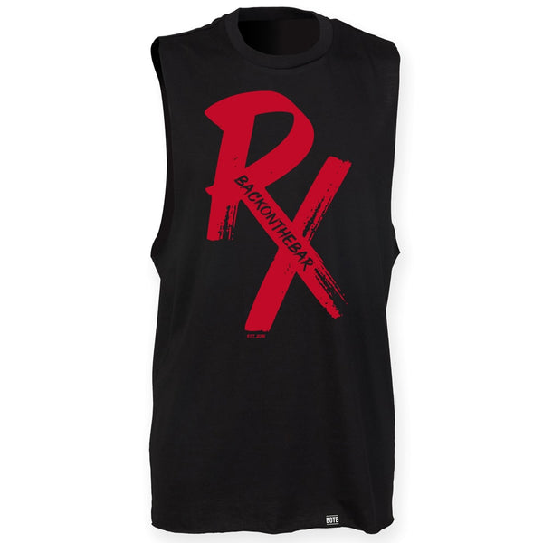 RX High Neck Slash Armhole Vest - Red & Black