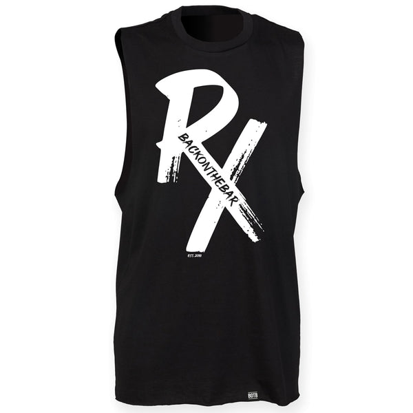RX High Neck Slash Armhole Vest - White & Black