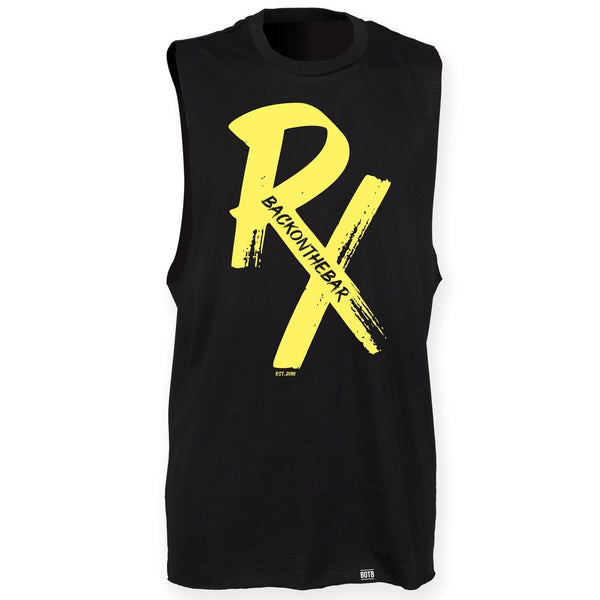 RX High Neck Slash Armhole Vest - Yellow & Black