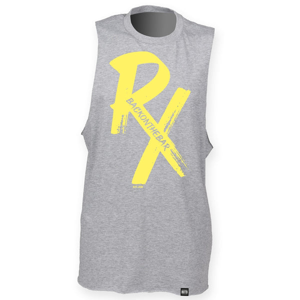 RX High Neck Slash Armhole Vest - Yellow & Heather Grey