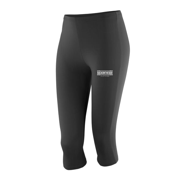 Women's 3/4 Length Impact Capri Leggings - Black