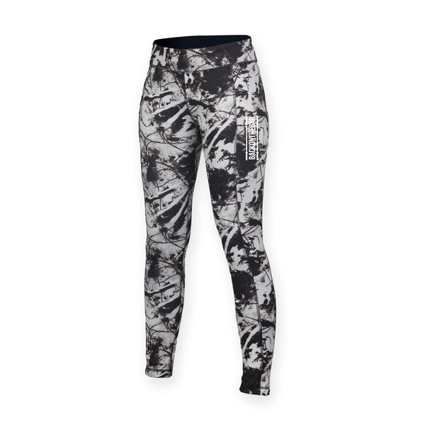 Women's Reversible Leggings - Black Print