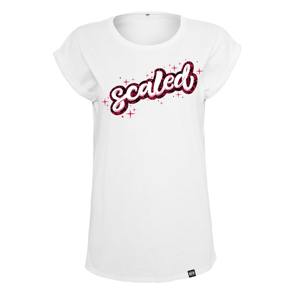 Scaled Extended Shoulder Tee - White