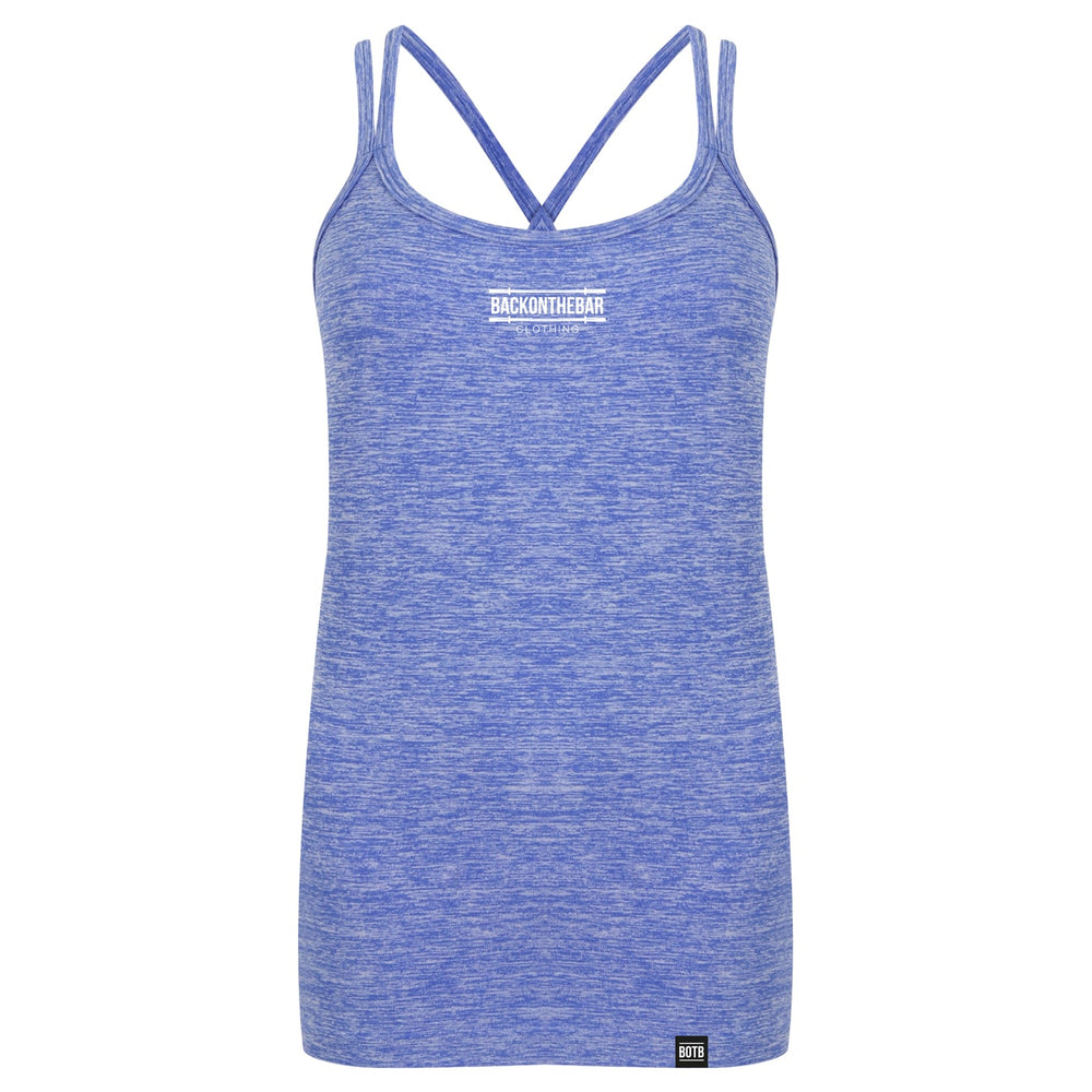 Seamless Strappy Training Vest - Blue Marl