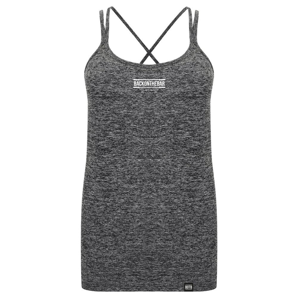 Seamless Strappy Training Vest - Dark Grey Marl