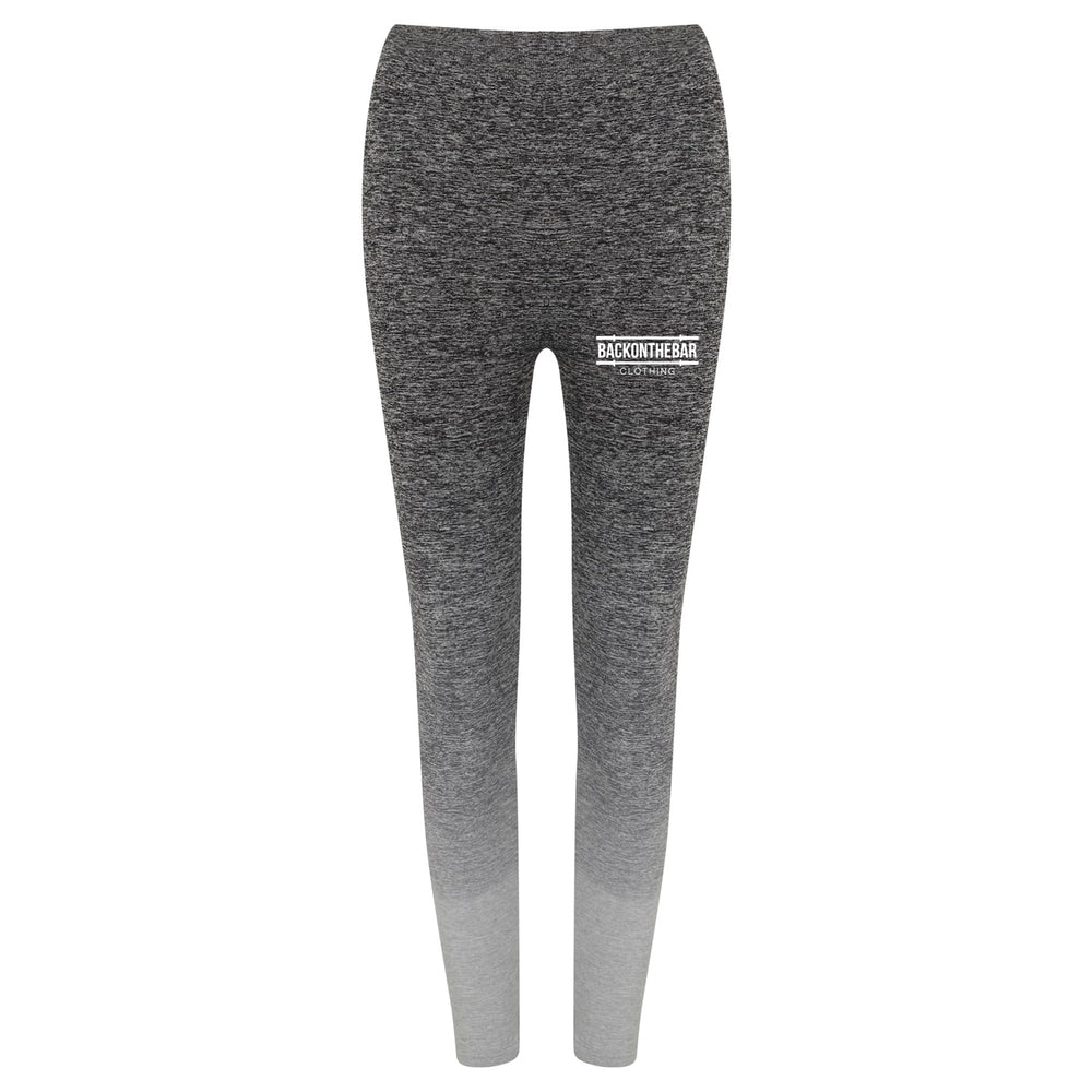 Women's Seamless Fade Out Leggings - Dark Grey/Light Grey Marl