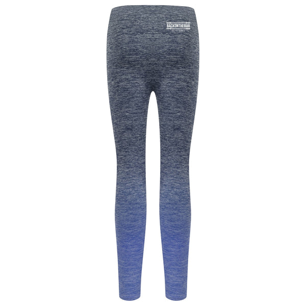 Women's Seamless Fade Out Leggings - Navy Blue Marl