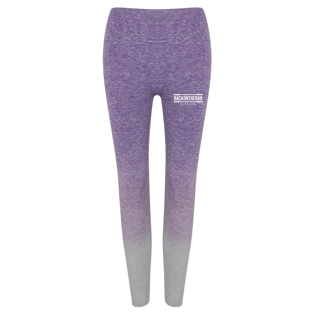 Women's Seamless Fade Out Leggings - Purple/Light Grey Marl