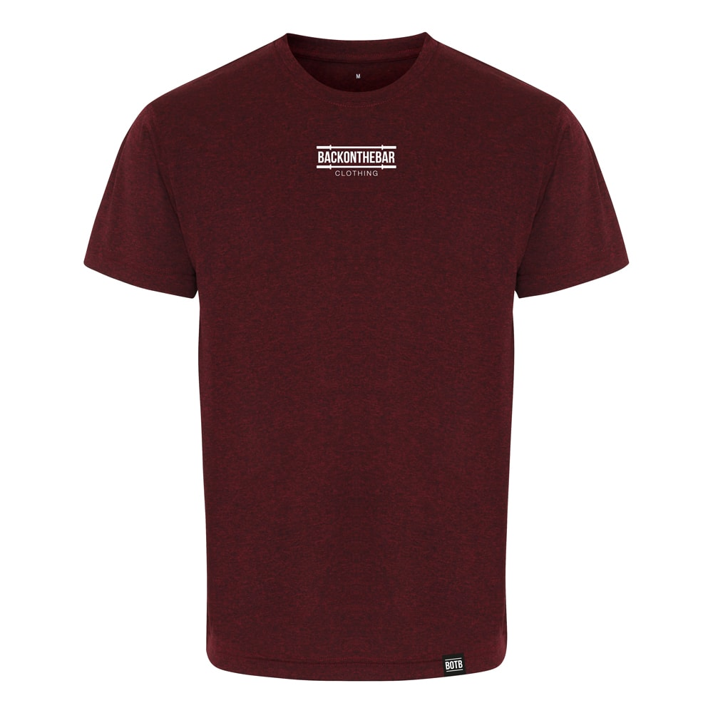 Performance T-Shirt - Burgundy Black Melange