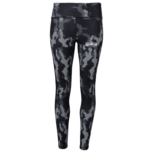 Women's Hex Camo Leggings - Camo Charcoal