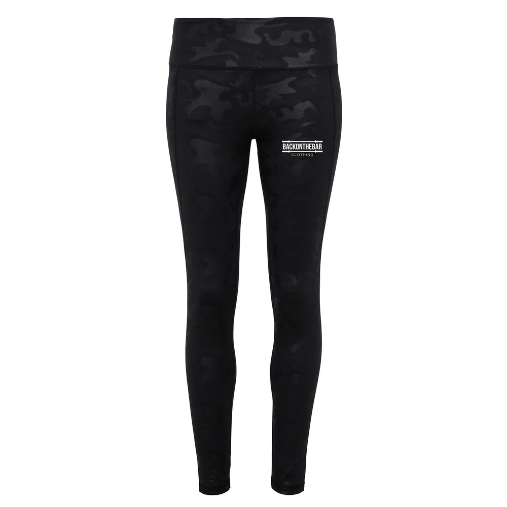 Women's Camo Leggings - Black Camo