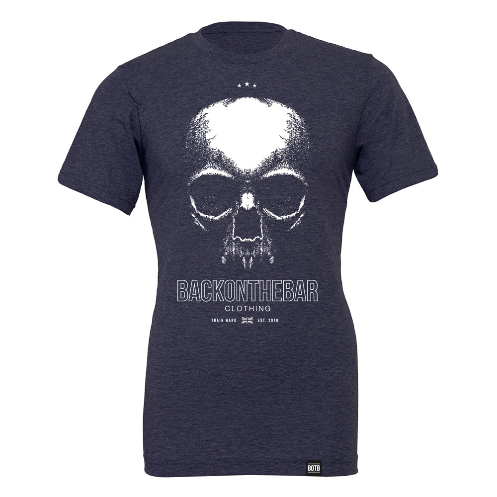 Train Hard T-Shirt - Heather Midnight Navy